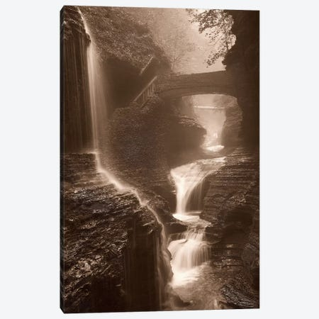 Waterfall On A Rainy Day Canvas Print #SVI10} by Igor Svibilsky Canvas Wall Art
