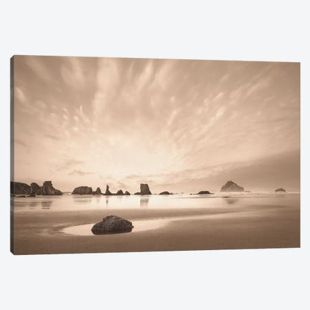 Morning On The Beach Canvas Print #SVI6} by Igor Svibilsky Canvas Artwork