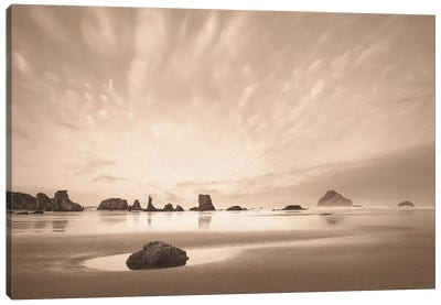 Morning On The Beach Canvas Art Print