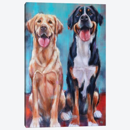 Murphee And Cali Canvas Print #SVL10} by Christine Savella Art Print