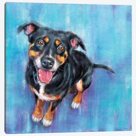 Pup Pup Canvas Print #SVL13} by Christine Savella Art Print