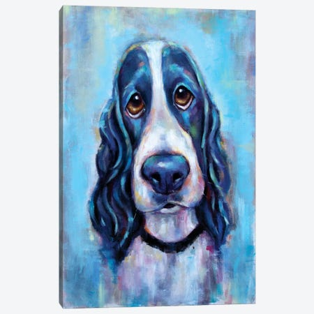 Puppy Eyes Canvas Print #SVL14} by Christine Savella Canvas Artwork