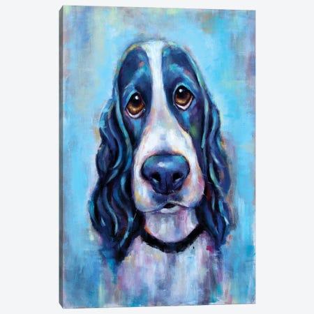 Puppy Eyes Canvas Print #SVL14} by Christine Savella Canvas Artwork