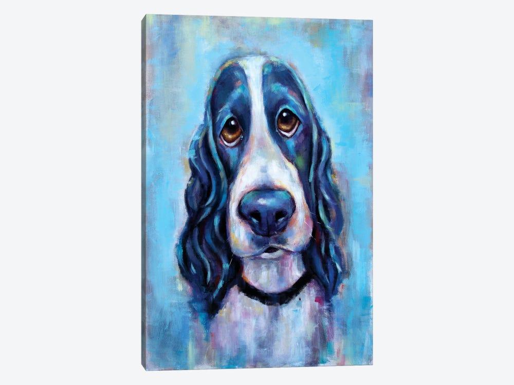 Puppy Eyes by Christine Savella 1-piece Canvas Print