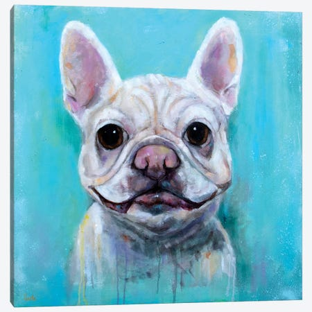 Frenchie Delight Canvas Print #SVL5} by Christine Savella Art Print