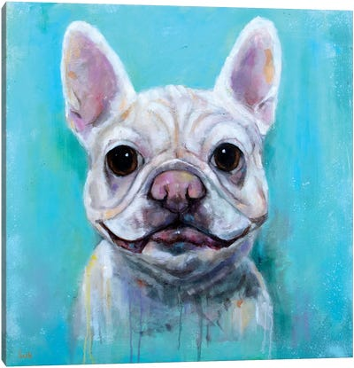 Frenchie Delight Canvas Art Print