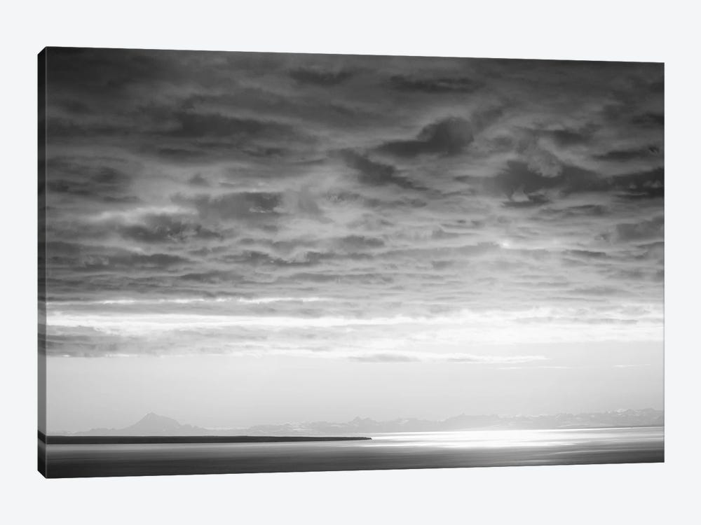 Black & White Cloud Formation by Savanah Plank 1-piece Canvas Artwork
