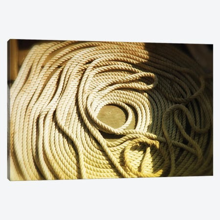 Boat Line, Coiled Canvas Print #SVN15} by Savanah Plank Canvas Wall Art