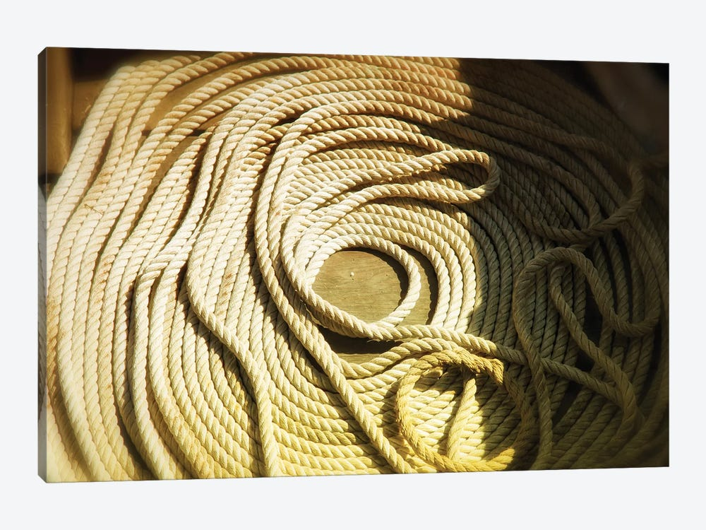 Boat Line, Coiled by Savanah Plank 1-piece Canvas Art Print