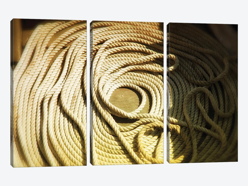 Boat Line, Coiled by Savanah Plank 3-piece Canvas Art Print