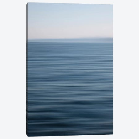 Abstract Blue Horizon 3-Piece Canvas #SVN1} by Savanah Plank Canvas Wall Art