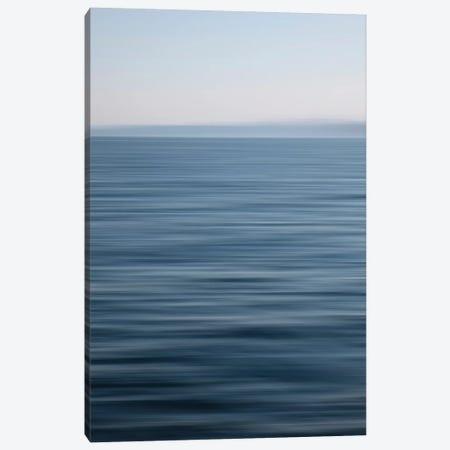 Abstract Blue Horizon Canvas Print #SVN1} by Savanah Plank Canvas Wall Art