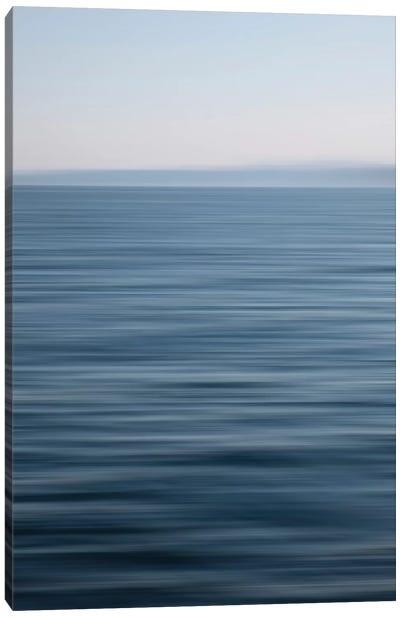 Abstract Blue Horizon Canvas Art Print
