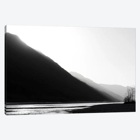 Knik River, Southern Alaska, Black & White Canvas Print #SVN34} by Savanah Plank Canvas Artwork