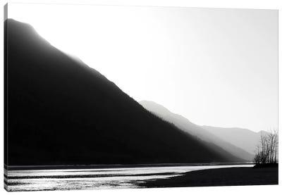 Knik River, Southern Alaska, Black & White Canvas Art Print