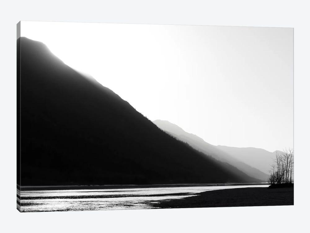 Knik River, Southern Alaska, Black & White by Savanah Plank 1-piece Canvas Artwork