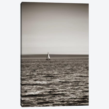 Lone Sailboat Near Seattle, Washington 3-Piece Canvas #SVN35} by Savanah Plank Canvas Wall Art