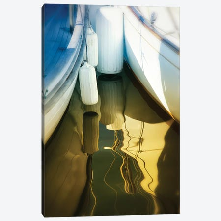 Sailboat Summertime Harbor Canvas Print #SVN48} by Savanah Plank Canvas Artwork