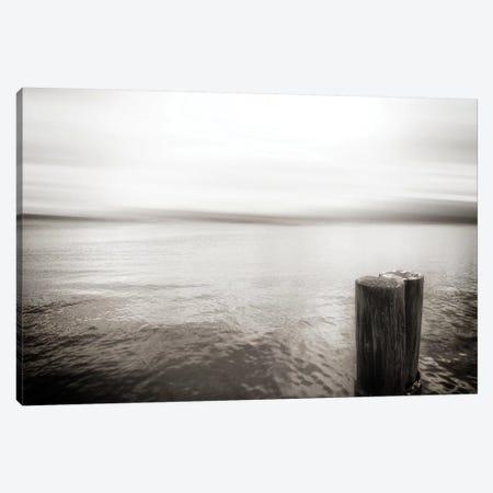 View From Pier, Alki Beach, Seattle, Washington I Canvas Print #SVN56} by Savanah Plank Canvas Wall Art