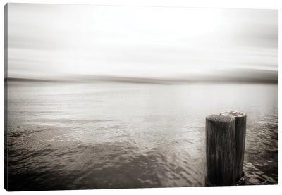 View From Pier, Alki Beach, Seattle, Washington I Canvas Art Print