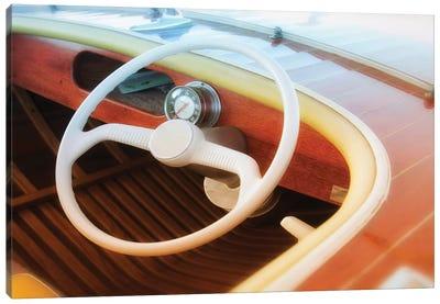 Vintage Speed Boat Canvas Art Print