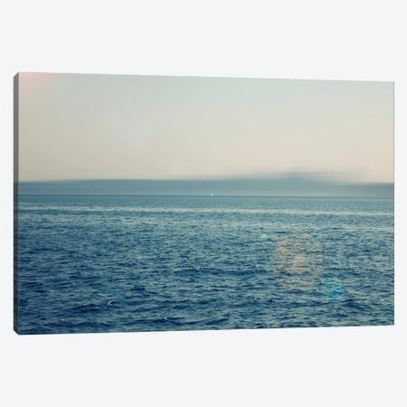 Wide Ocean With Lens Flare Canvas Print #SVN61} by Savanah Plank Canvas Wall Art