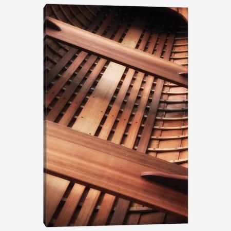Wooden Boat Interior Canvas Print #SVN62} by Savanah Plank Canvas Artwork