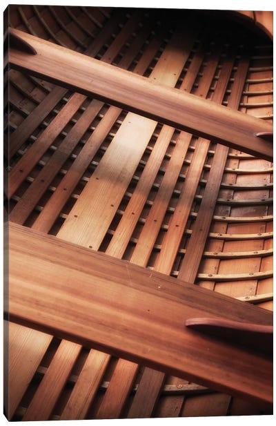 Wooden Boat Interior Canvas Art Print