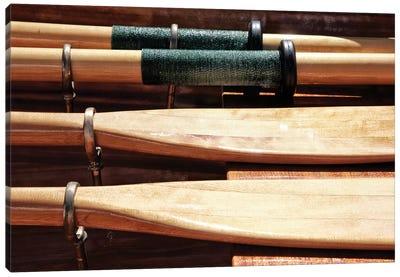 Wooden Oars Canvas Art Print