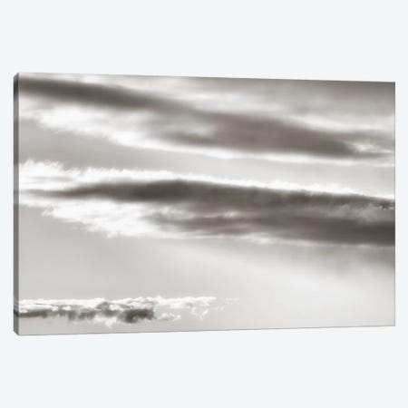 Black And White Cloud Formation Canvas Print #SVN69} by Savanah Plank Canvas Art