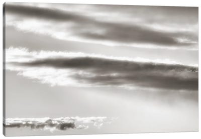 Black And White Cloud Formation Canvas Art Print