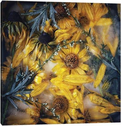 Frozen Flowers Canvas Art Print