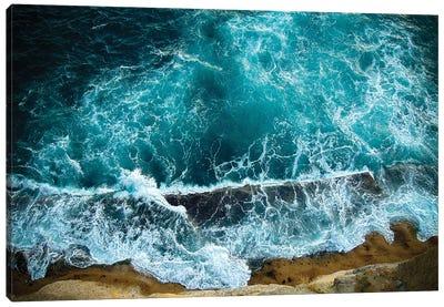 Blue Waves II Canvas Art Print