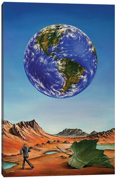 Abandoned Planet Canvas Art Print
