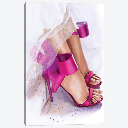 Pink Bow Canvas Print #SVT23} by Svetlana Balta Canvas Wall Art
