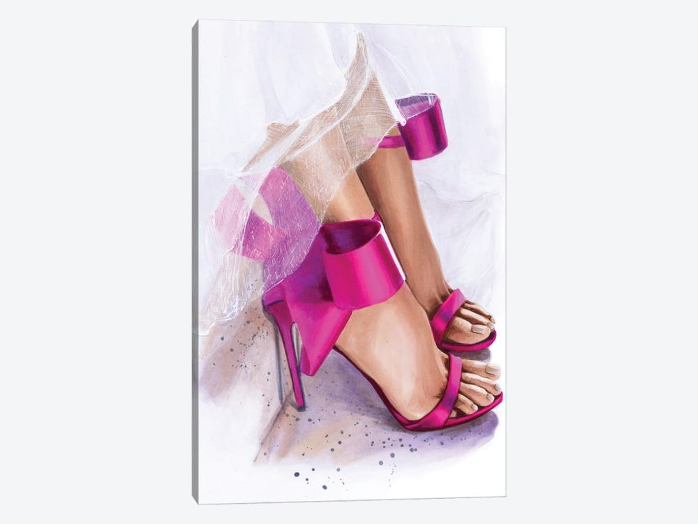 Pink Bow by Svetlana Balta 1-piece Canvas Print