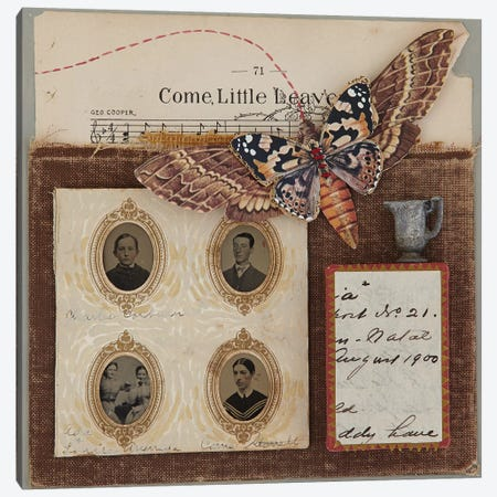 Come Little Leaves Canvas Print #SVY2} by Susan Savory Canvas Artwork