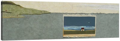 Seaside Squared Canvas Art Print