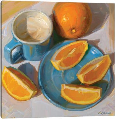 Sunshine On A Plate Canvas Art Print