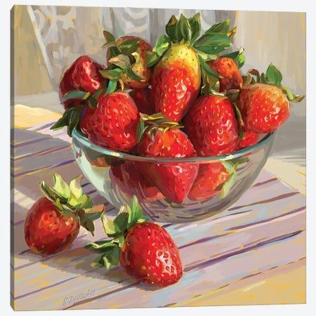Strawberry Morning Canvas Print #SVZ17} by Svetlana Zyuzina Canvas Artwork