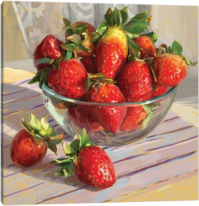 Strawberry Morning Canvas Art Print