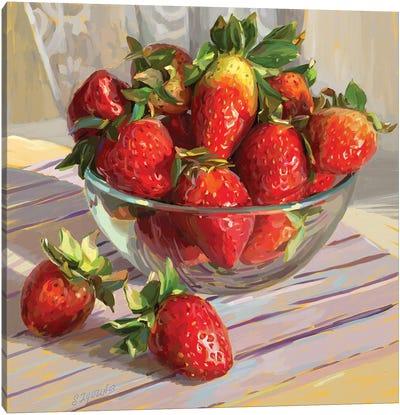Strawberry Morning Canvas Art Print