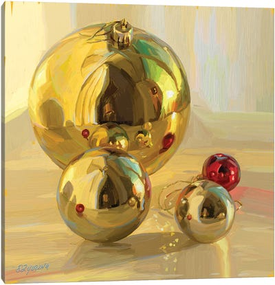 Shiny Christmas Bubbles Canvas Art Print