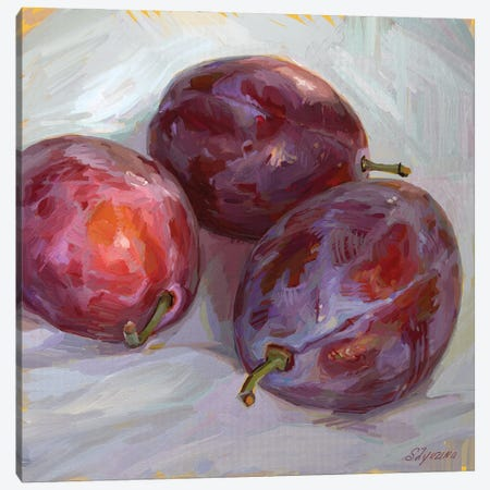 Plums In A Sunset Light Canvas Print #SVZ20} by Svetlana Zyuzina Canvas Wall Art