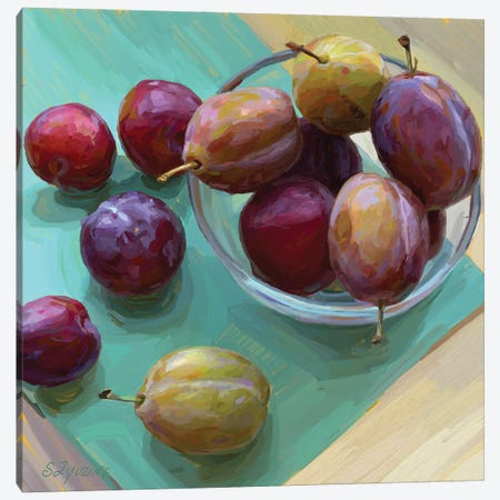 Plums In A Bowl Canvas Print #SVZ22} by Svetlana Zyuzina Canvas Art