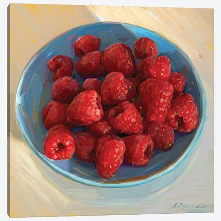 Happiness Is A Bowl Of Fresh Raspberries Canvas Print #SVZ28} by Svetlana Zyuzina Canvas Art