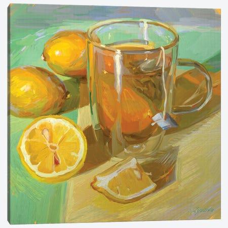 Green Tea Canvas Print #SVZ36} by Svetlana Zyuzina Canvas Wall Art