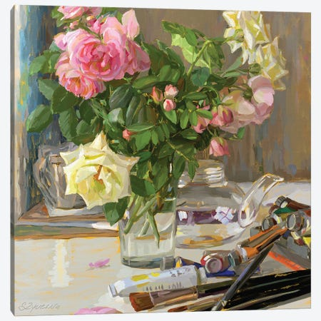 Artist's Table Canvas Print #SVZ44} by Svetlana Zyuzina Art Print