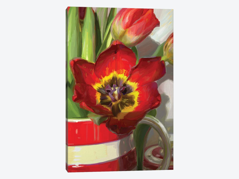 Red Tulip From Amsterdam by Svetlana Zyuzina 1-piece Canvas Art