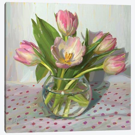 First Tulips Of The Season Canvas Print #SVZ47} by Svetlana Zyuzina Canvas Print